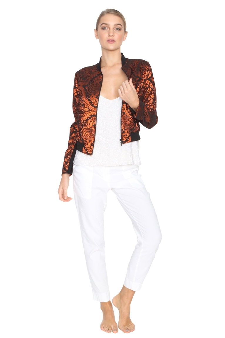Picture of Crop Bomber Jacket - Bronze