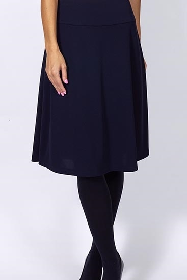 Picture of Knee Length Bias Skirt Navy