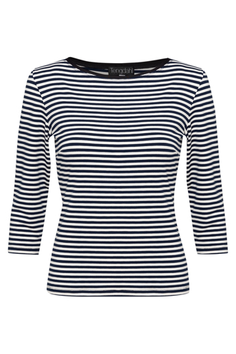 Picture of Classic 3/4 Sleeve T-Shirt Navy Stripe