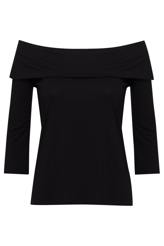 Picture of Off The Shoulder Top Black