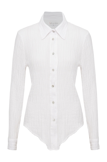 Picture of Adele Crinkle Shirt White