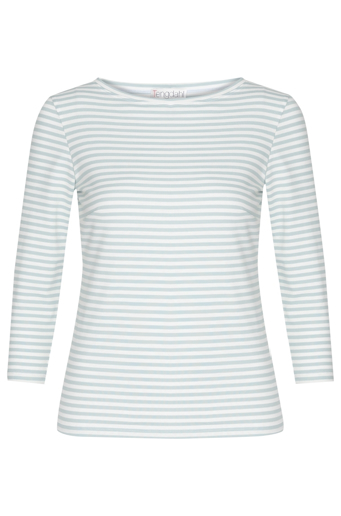 Picture of Classic 3/4 Sleeve Stripe T-Shirt Sky