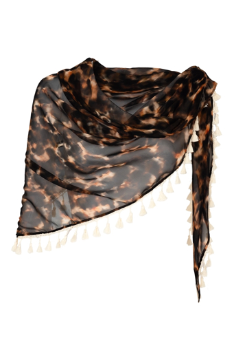 Picture of Signature Triangle Scarf Tortoiseshell Ivory