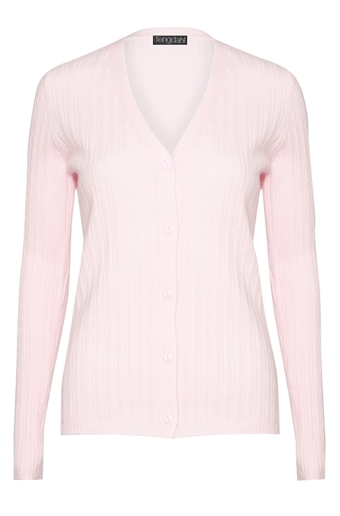 Picture of Cashmere Button Up Cardigan Pink
