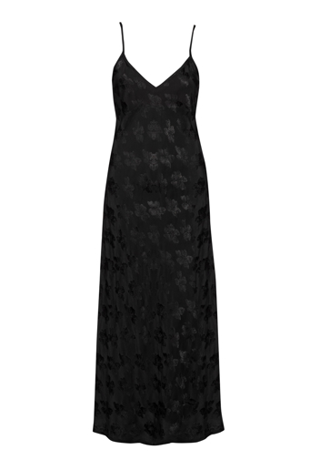 Picture of Damask Maxi Bias Slip Dress Black