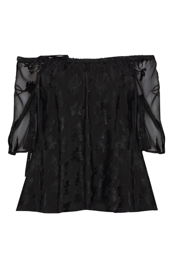 Picture of Skye Top Black Damask