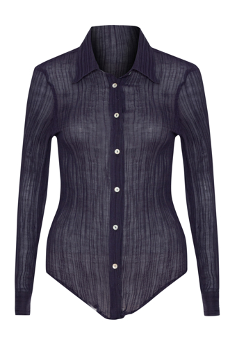 Picture of Adele Crinkle Shirt Indigo