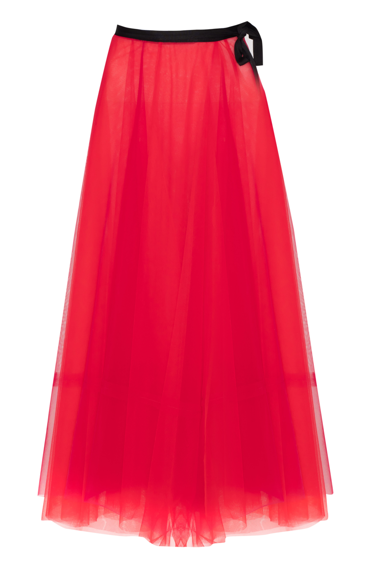 Picture of Ava Wrap Tulle Skirt Crimson