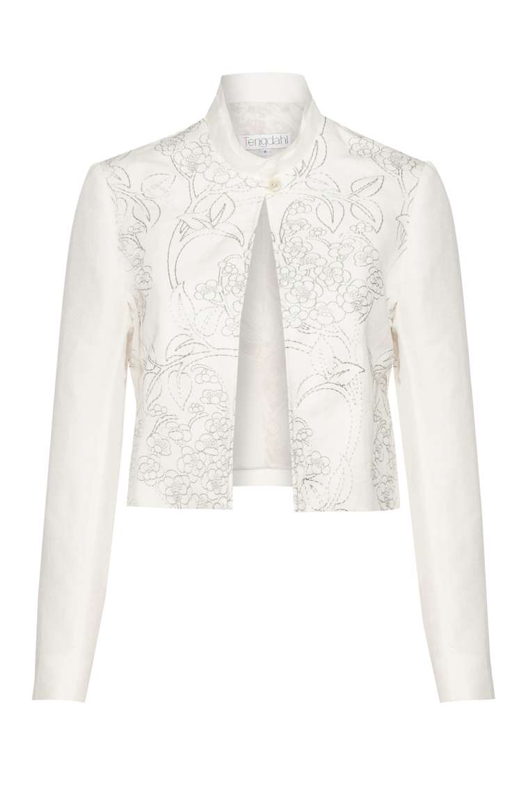 Picture of Marie Curie Crop Jacket Ivory