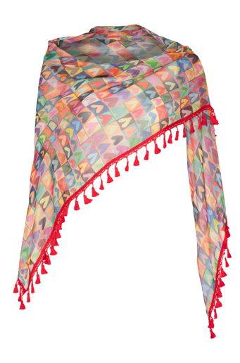 Picture of Signature Triangle Scarf Happy Heart