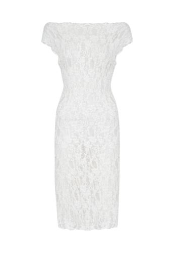 Picture of Classic Stretch Lace Dress White