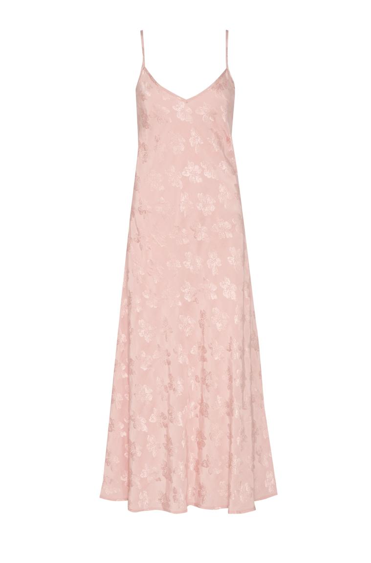 Picture of Jasmina Damask Maxi Slip Dress  Blush Pink