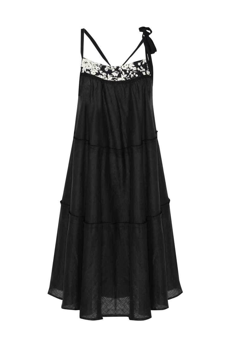 Picture of Short Swing Dress Black