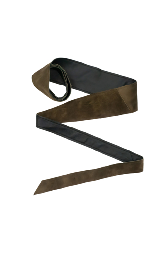 Picture of Suede Obi Belt Olive