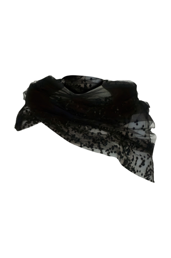 Picture of Infinity Scarf Black Spot Tulle