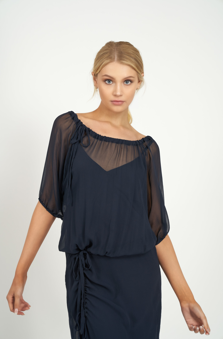 Picture of Goddess Dress Navy