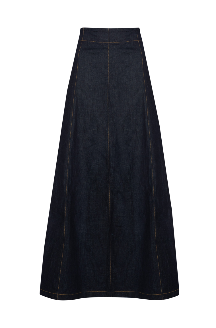 Picture of Kate Maxi Skirt Denim