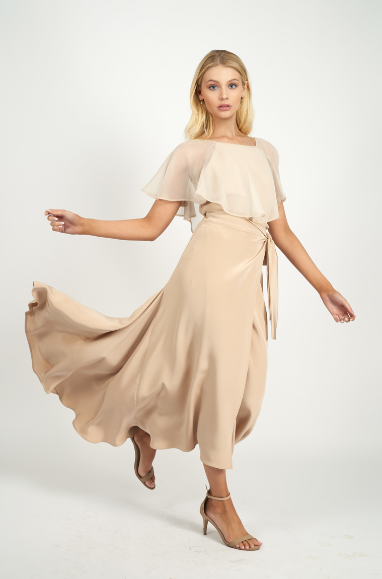 Picture of Margueritte Maxi Skirt Blush