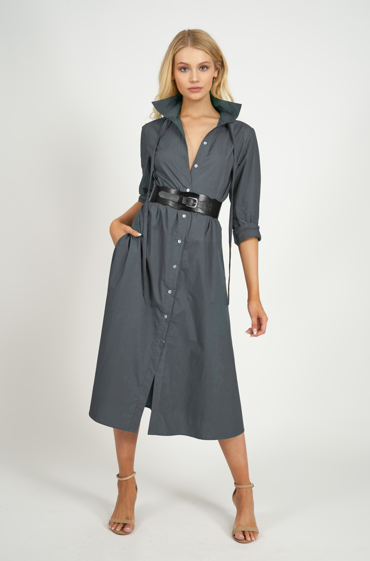 Picture of Katherine Shirtmaker Dress Teal
