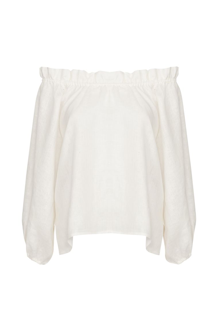 Picture of Monica Top Ivory Linen