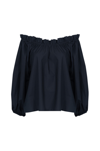 Picture of Monica Top Navy Cotton