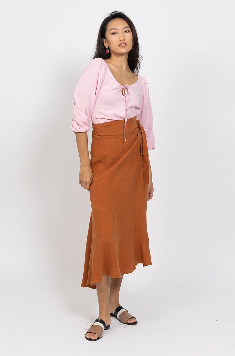 Picture of Artina Maxi Skirt Tan