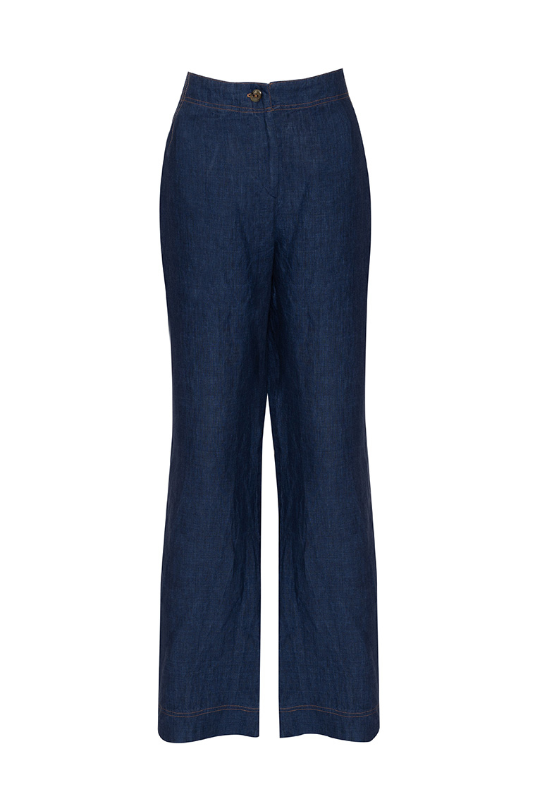 Picture of Penelope Linen Pant Denim