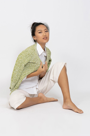 Picture of V Neck Cardigan Apple