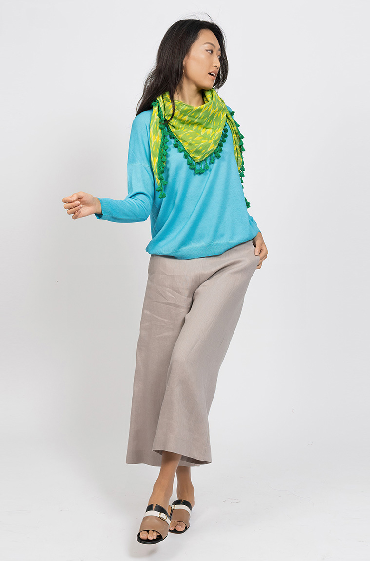 Picture of Signature Triangle Scarf Lime