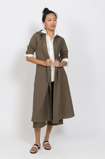 Picture of Katherine Shirtmaker Dress Olive